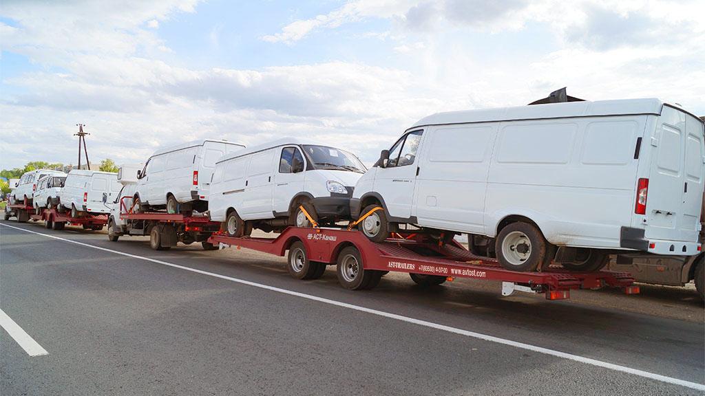 автовозы фото и картинки, автовоз с газелями газ 2705