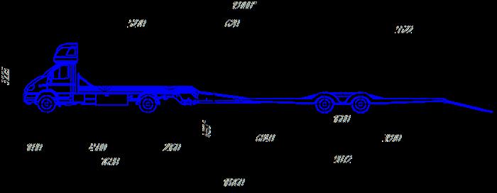 чертеж автопоезда автовоза